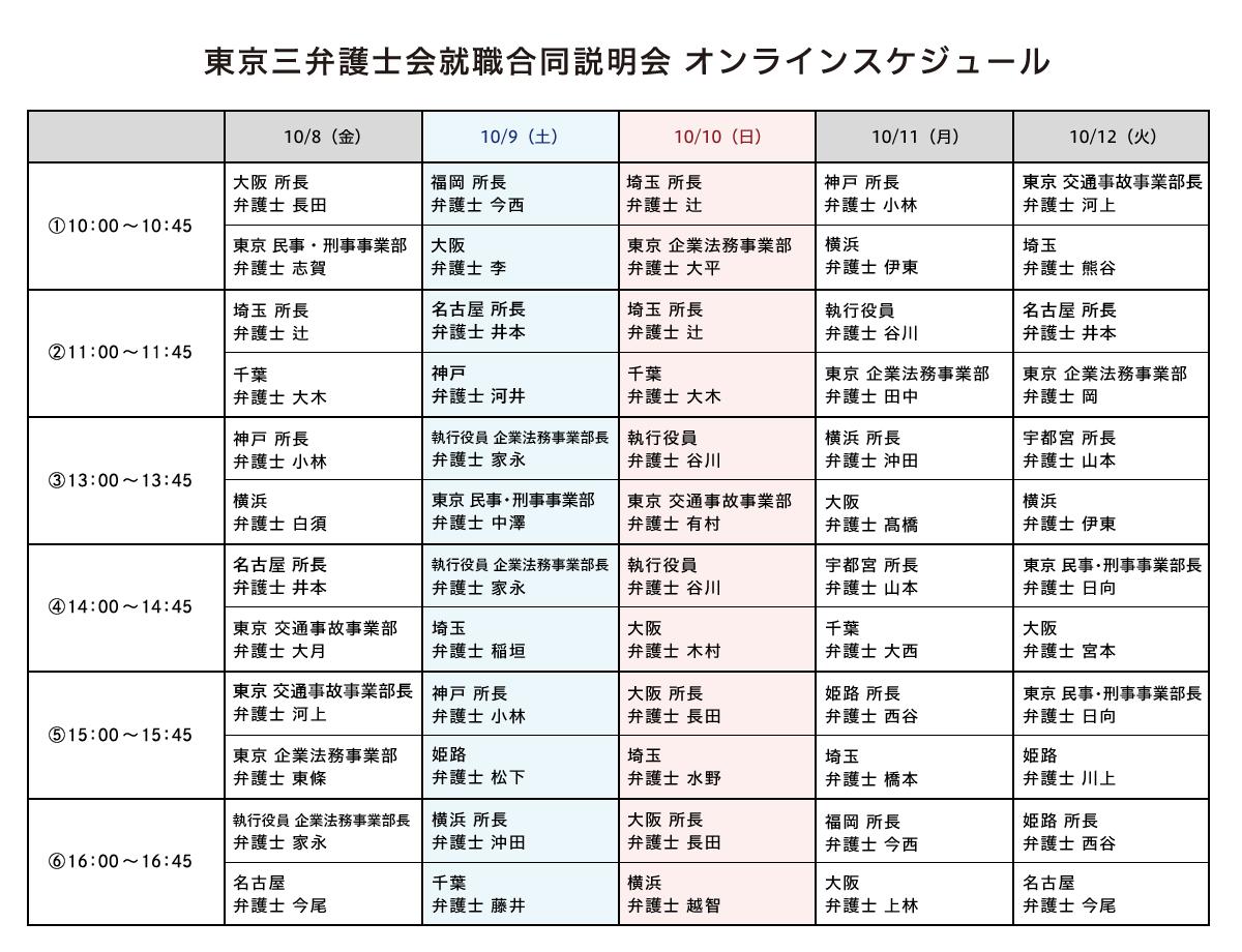 東京三弁護士会就職合同説明会
